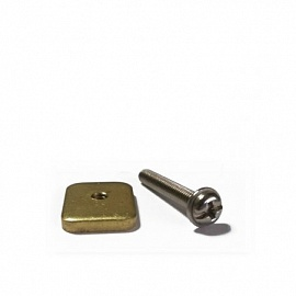 JP Винт для плавника M4 PH2 including brass sliding nut 25